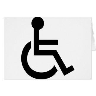 Disabled Symbol Card