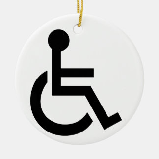 Disabled Symbol Ceramic Ornament