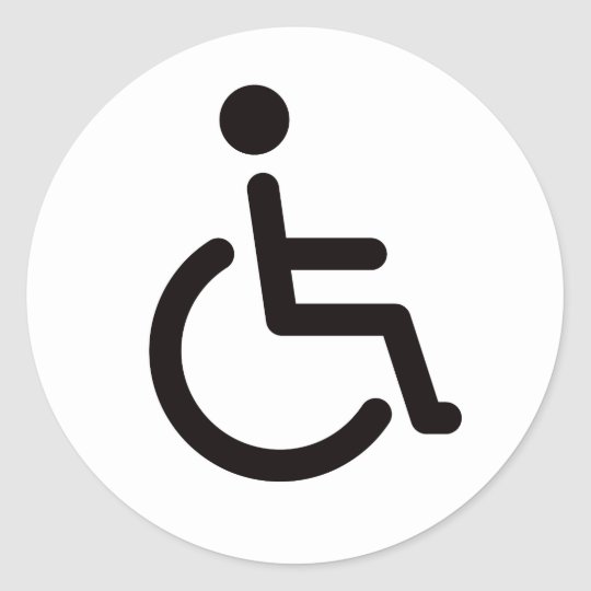 Disabled symbol classic round sticker