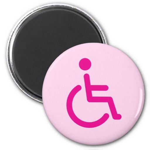 Disabled symbol fridge magnet