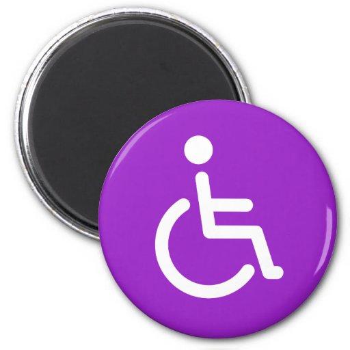 Disabled symbol fridge magnets