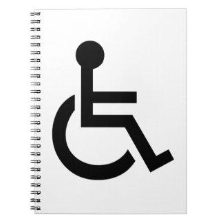 Disabled Symbol Spiral Notebook