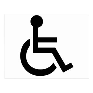 Disabled Symbol Post Card