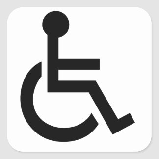 Disabled Symbol Square Sticker