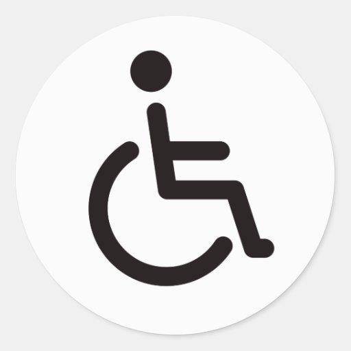 Disabled symbol round sticker