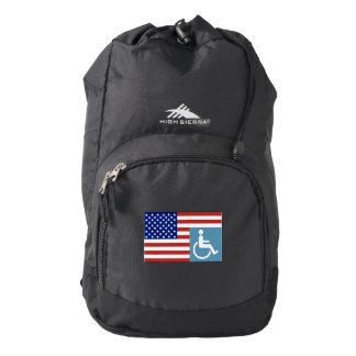 Disabled US Veteran High Sierra Backpack