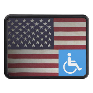 Disabled US Veteran Tow Hitch Cover