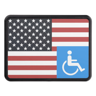 Disabled US Veteran Tow Hitch Covers