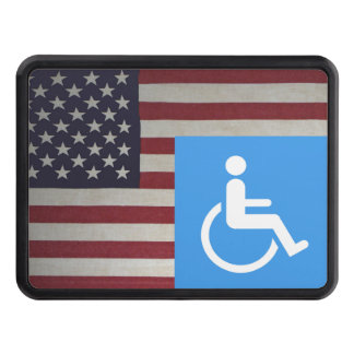 Disabled US Veteran Trailer Hitch Cover
