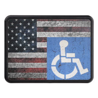 Disabled US Veteran Trailer Hitch Covers