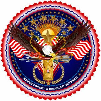 Disabled-Veteran-Version 4 ornament Photo Cutout