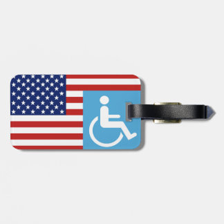 Disabled War Vet. Luggage Tag