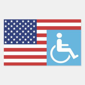 Disabled War Vet. Rectangular Sticker