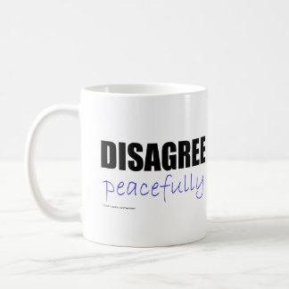 Disagree Peacefully - Black Coffee Mugs