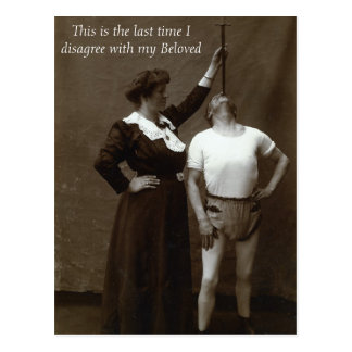 Disagreeing with My Beloved - Postcard