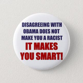 Disagreeing with Obama Pinback Button
