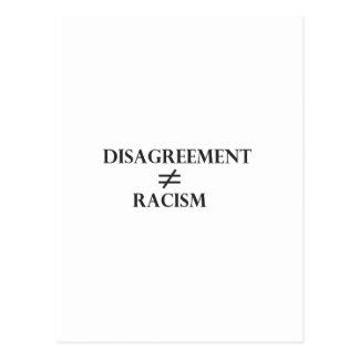 Disagreement Does Not Equal Racism Postcard