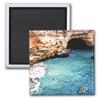 Disappearing Beach - Vale Covo - Algarve Portugal 2 Inch Square Magnet