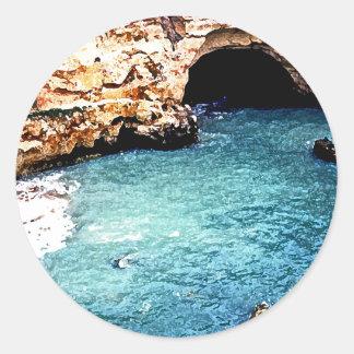 Disappearing Beach - Vale Covo - Algarve Portugal Classic Round Sticker