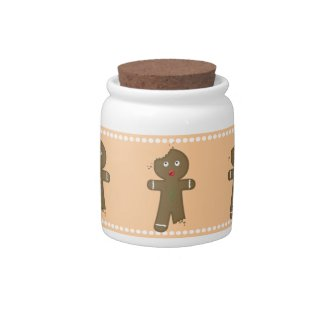 Disappearing Gingerbread Man Candy Jar