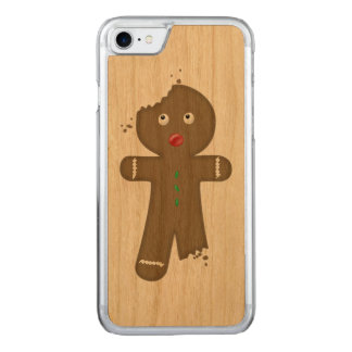Disappearing Gingerbread Man Carved iPhone 7 Case