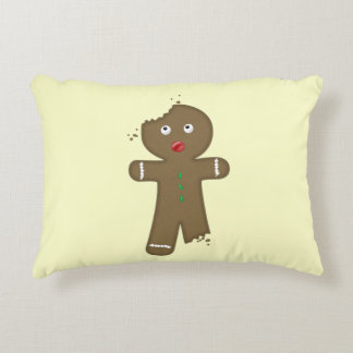 Disappearing Gingerbread Man Decorative Pillow