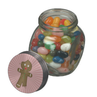 Disappearing Gingerbread Man Glass Jars