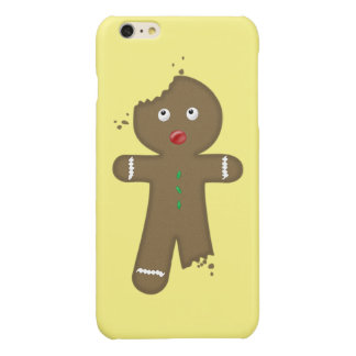 Disappearing Gingerbread Man Glossy iPhone 6 Plus Case