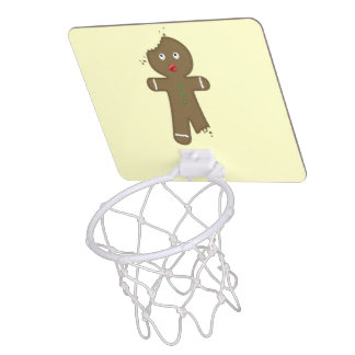 Disappearing Gingerbread Man Mini Basketball Hoop