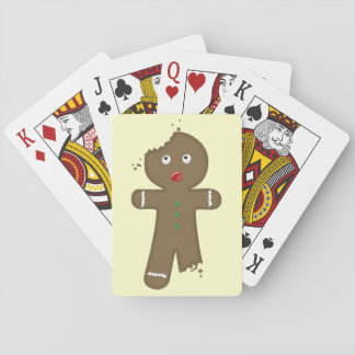 Disappearing Gingerbread Man Playing Cards