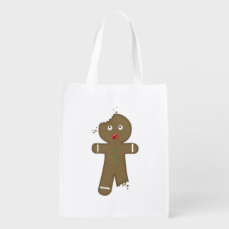 Disappearing Gingerbread Man Reusable Grocery Bag