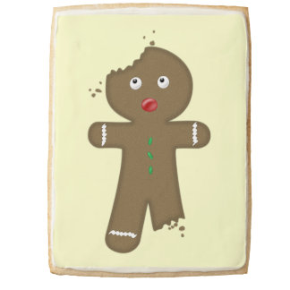 Disappearing Gingerbread Man Shortbread Cookie
