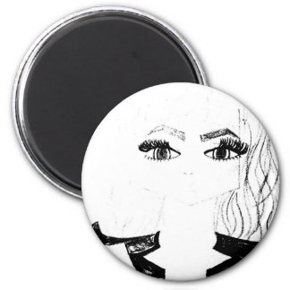 Disappearing Girl 2 Inch Round Magnet