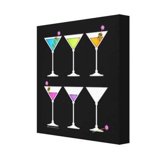 DISAPPEARING MARTINI Gallery Wrapped Canvas