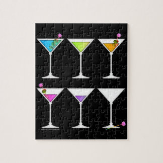 DISAPPEARING MARTINI PUZZLE or PUZZLE GIFT SET