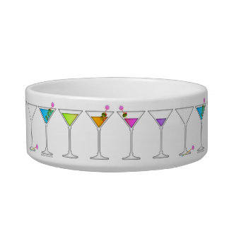 DISAPPEARING MARTINI SNACK or PET BOWL