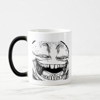 Disappearing Smiling Troll Face Coffee Cup Mug Coffee Mug