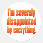 Disappointed 2 round sticker