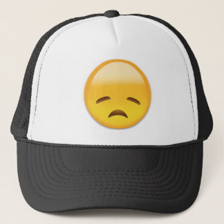 Disappointed Face Emoji Trucker Hat