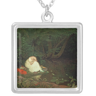 Disappointed love, 1821 silver plated necklace