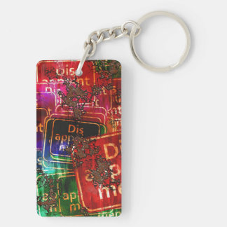 Disappointment Collage Acrylic Key Chain