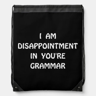 Disappointment Grammar Backpack