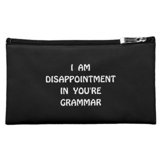 Disappointment Grammar Makeup Bags