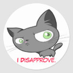 Disapproval Kitty sticker