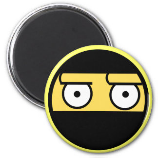 Disapproval Ninja Face 2 Inch Round Magnet