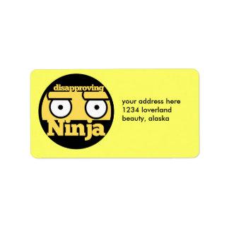Disapproval Ninja Label