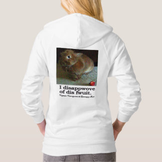 Disapproving Bunny Carrotpants Hoodie