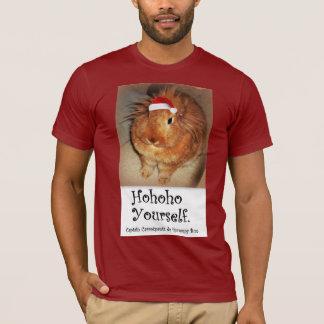 Disapproving Bunny Rabbit Christmas Hoho T Shirt