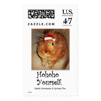 Disapproving Bunny Rabbit Ho ho ho Postage Stamps