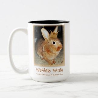 Disapproving Bunny Rabbit Mug
